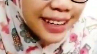 SandpDecent - Tudung Virgin Uni Student Nerd Cum on Face