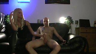 Hot Blonde Handjob