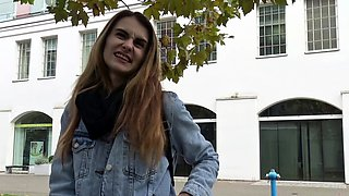 GERMAN SCOUT - SKINNY GIRL FUCK TO EYE ROLL AT PICKUP CAST