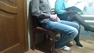 Strange Woman in the Waiting Room Gives a Handjob to me