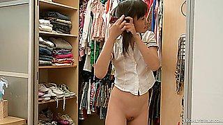 Asian Teen pleasures before school